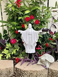 Solar Lighted Jesus by Eternal Light | Illuminated Cemetery Decoration Heartfelt Memorial