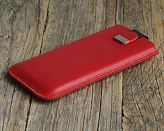 Rosso custodia in pelle per - iPhone 12 Pro Max - cover