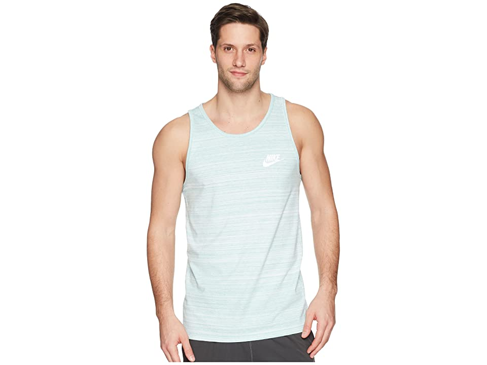 Nike Sportswear Advance 15 Tank (White/Green Noise/Heather/White) Men