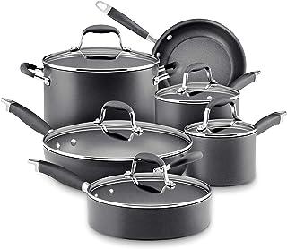 Anolon Advanced Hard Anodized Nonstick Cookware Pots and Pans Set, 11 Piece, Graphite