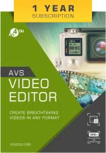 AVS Video Editor - One Year Subscription [Online Code]