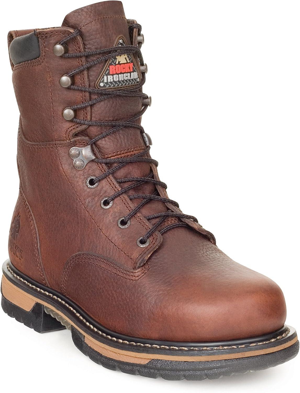 Rocky Men's 8  IronClad Steel Toe Waterproof Work Boots-6693