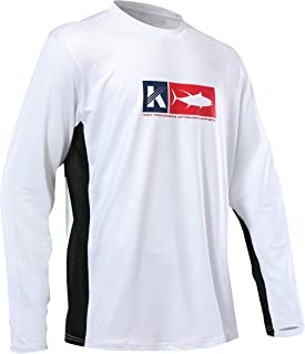 Performance Fishing Shirt Vented Long Sleeve Sunblock Sun Protection UPF50 Moisture Wicking Rash Guard Mesh Sides Loose Fit