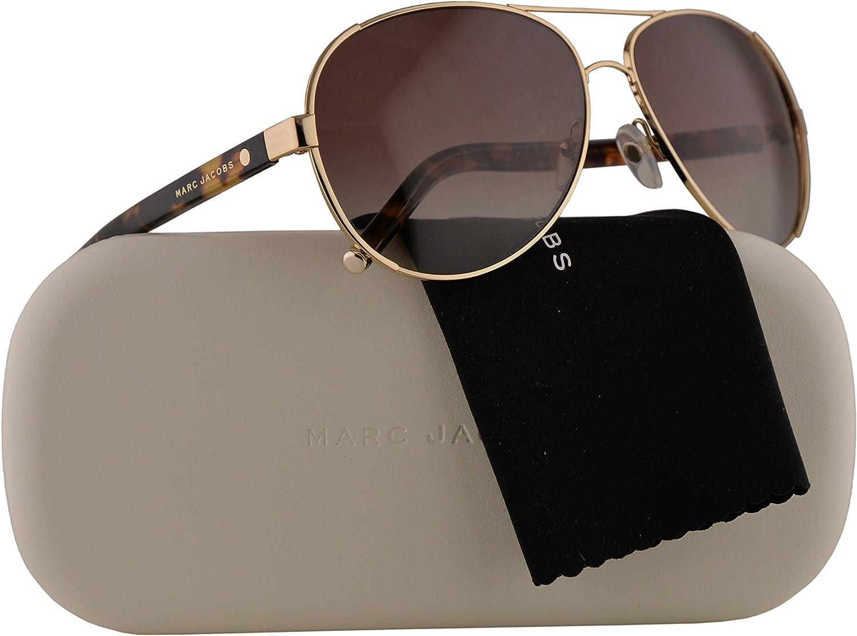 Marc Jacobs Marc 66 S Sunglasses gold w Gunmetal Mirror Lens 60mm 8VILA MJ66 S MJ 66 S Marc 66S Marc66 S Marc66S