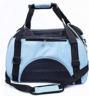 Pet Handbag, Travel Transport Shoulder Carrier Bag Portable Foldable Pet Bag Airline Approved for Small Dogs, Cats and Sma...
