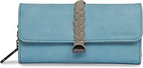 Women Clutch Sky Blue Cream BNS 2420SBL