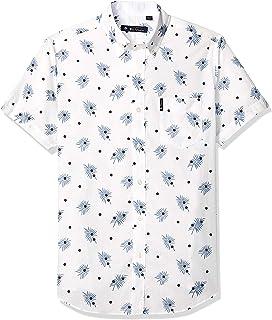 Ben Sherman Men's Ss Palms Dot Print Shirt