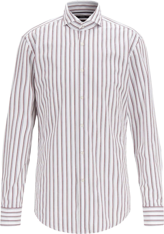Hugo Boss Men's 'Jemerson' Slim Fit Two Color Stripe Dress Shirt 15.75 34/35