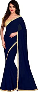Viva N Diva Saree for Women`s Navy Blue Color Georgette Saree