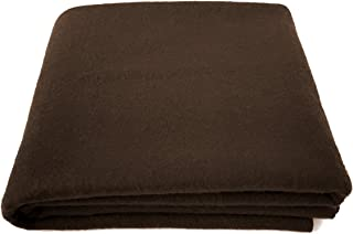 """EKTOS 80% Wool Blanket, Light & Warm 3.7 lbs, Large Washable 66""""x90"""" Size, Perfect for Outdoor Camping, Survival & Emergency Preparedness Use"""