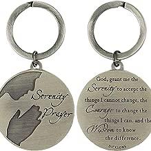 Serenity Prayer God Grant Me Courage Wisdom Scripture Pendant Key Ring Keychain
