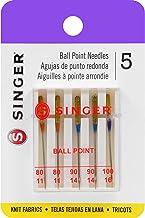 Agujas de máquina de punto de bola universal Singer para tejido de punto, Size 11/80 (2), 14/90 (2) & 16/100 (1), 80/11, 90/14, 100/16, 1