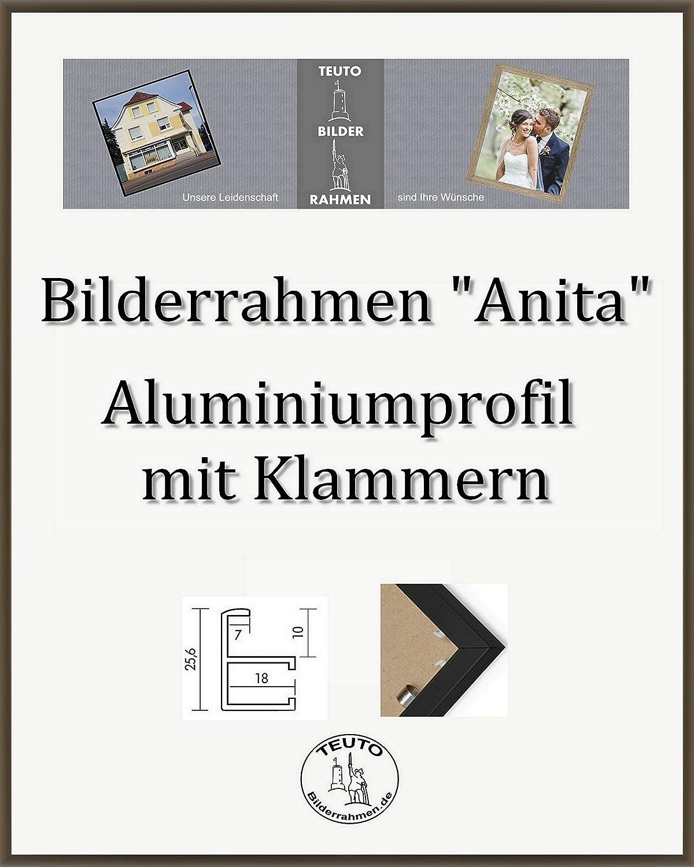 Teuto-Bilderrahmen Anita Marco de Aluminio 26 x 105 cm Simple Firme Elegante con Vidrio acrílico antirreflexivo 2 mm en 10 Colors Diferentes aquí  Bronce