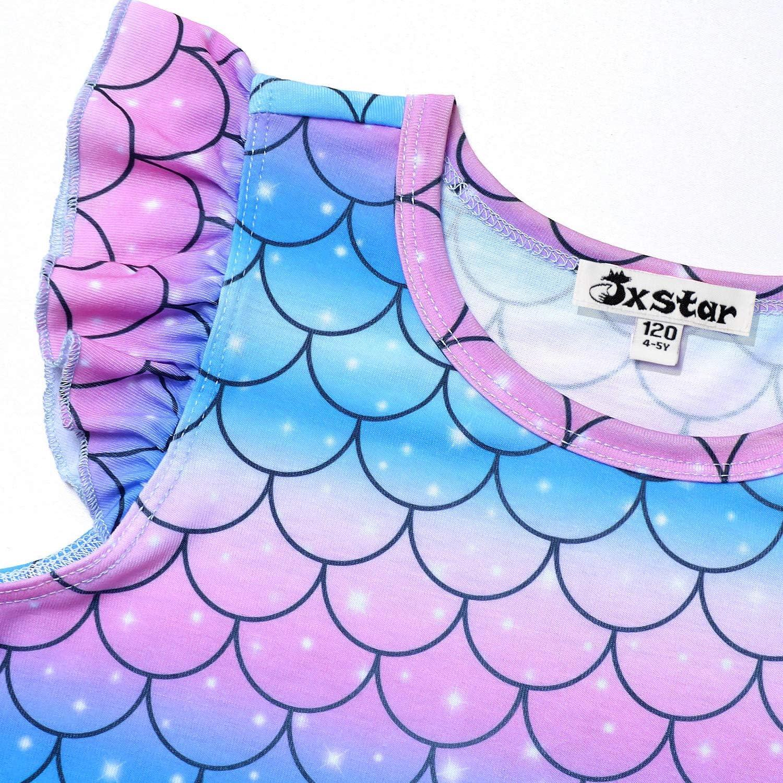 Jxstar Matching Girls/&Doll Nightgowns Pajamas Princess Sleepwear Flutter Sleeve Night Dresses