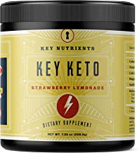 Exogenous Ketone Supplement, Key Keto: Patented BHB Salts (Beta-Hydroxybutyrate) - Formulated for Ketosis, to Burn Fat, In...