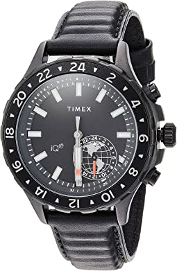 Timex - IQ+ Move Multi Time Leather Strap