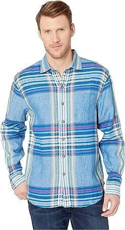 Pecona Plaid Linen Shirt
