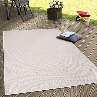 80 x 150 cm Resistente al Agua Gris Mynes Home UK tapete de Piso de Polipropileno Reciclado para Interiores y Exteriores Polipropileno dise/ño Moderno Color Blanco