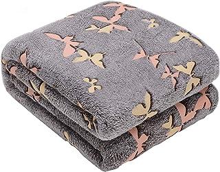Glow in The Dark Throw Blanket,Super Soft Warm Cozy Fuzzy...