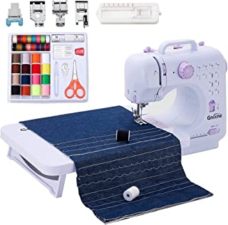 Gnixne Sewing Machine with Extension Table Portable Sewing Machines for Beginners 12 Built-in Stitches 2 Speed with Foot P...