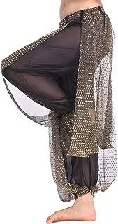 black sheer harem pants