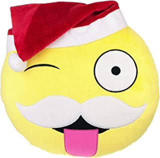 Santa Clause Emoji Christmas Pillow 12"