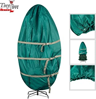 Tiny Tim Totes Premium Upright Christmas Tree Canvas Storage Cover Bag | 6 FT | Green, 6 Foot
