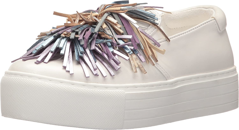 Kenneth Cole New York Women's Jayson Slip on Platform Pom Sneaker