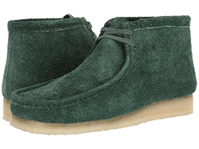 Clarks Wallabee Boot (Forest Green Hairy Suede) Men