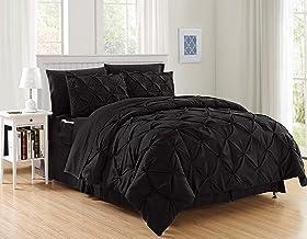 راحتی ، لوکس ترین ، نرم ترین ، جالب ترین 8 تکه تخت خواب راحتی در آمازون! Comfort Elegant - مجموعه کامل ابریشمی نرم شامل مجموعه ورق های تختخواب با جیب های دو طرفه ، King / Cal King ، مشکی