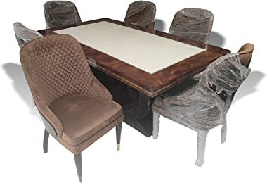 Dining Table (Marble top and Diamond Seating) / Videms Furniture/Home and Furnishing