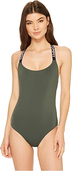 Tommy Hilfiger Sporty Hippie Cross Back One-Piece