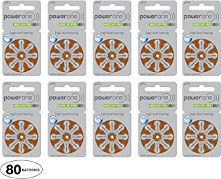 Power One Size 312 Hearing Aid Batteries (80 Batteries)