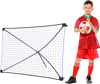 NET PLAYZ Tri Great USA Corp Easy Kickback Portable Soccer Rebounder Net, 5FT x 3FT, Quick Set Up, Lightweight, Multi Angle Adjustment