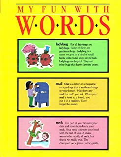 My Fun With Words Dictionary,Book 1: A-K & Book 2: L-Z (Volume I & II)