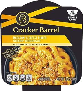 Cracker Barrel Sharp Cheddar Macaroni & Cheese Single Bowl (3.8oz Boxes, Pack of 6)