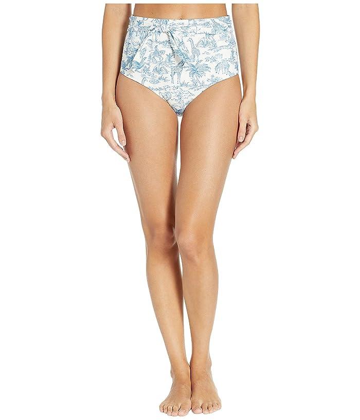 Tory Burch Swimwear Double Diamonds High-Waist Bottoms (Ivory Far and Away) Women