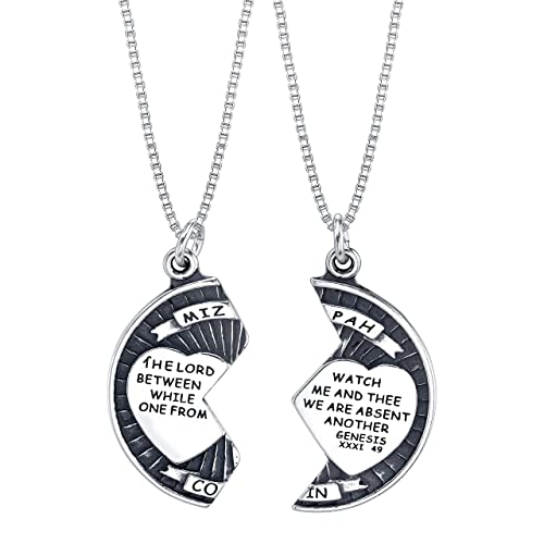 7906afe98c4 Raposa Elegance Sterling Silver 25mm Mizpah Break Apart Coin Charms on Two Sterling  Silver Box Chain