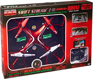 Swift Stream Indoor/Outdoor Z-10 Camera Drone, Red