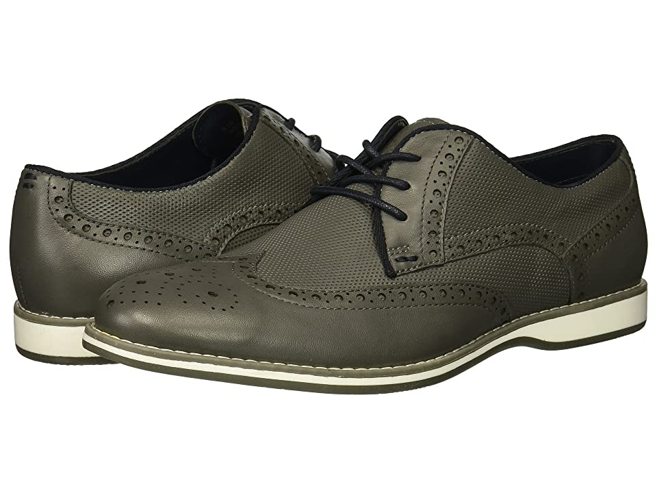 Kenneth Cole Reaction Weiser Lace-Up (Grey Leather) Men