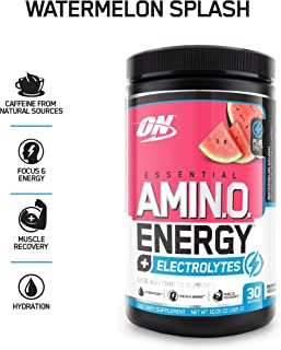 Optimum Nutrition Amino Energy + Electrolytes, Watermelon Splash, 30 Servings