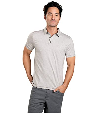 Toad&Co Tempo Short Sleeve Polo (Heather Grey 2) Men