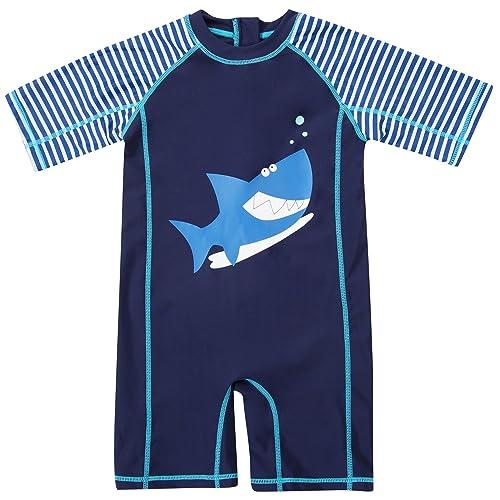 7f80fd1ea0423 CharmLeaks Baby Boy Surf One Piece Zip Rash Guard UV All-in-One Swimsuit