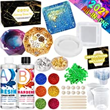 Jewelry Holder Dish 7Pcs Soap Dish Sapid Silicone Epoxy Resin Mold with Gold Foil Flakes Shining Glitter for Decoration Cup Mats Casting Art Resins Mould for Coaster