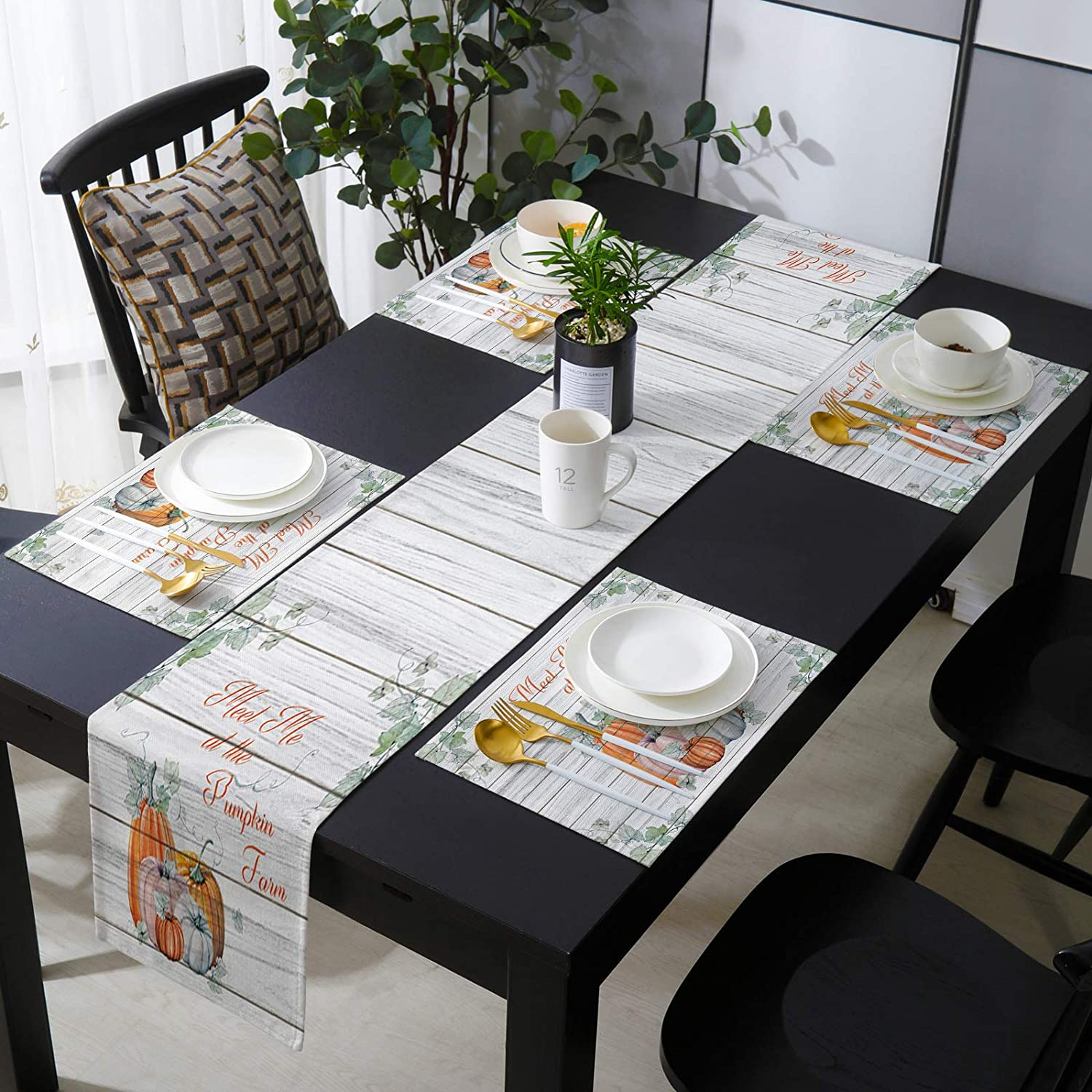 Fantasy Staring 16 x 72 Inch Detroit Mall Set Runner Table Placemats with Soldering of