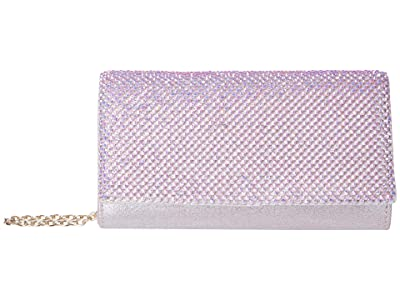 Jessica McClintock Luisa Flap Clutch (Iridescent Pink) Handbags