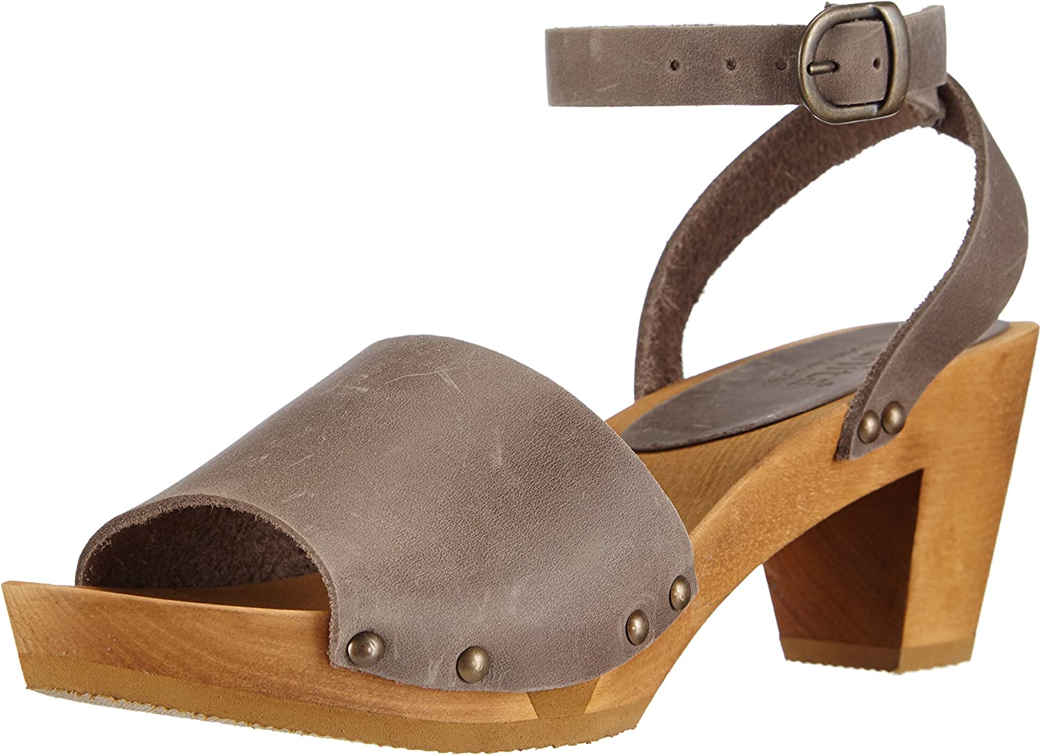 Sanita Yara Flex for Women. Fancy Sandals Made from Wood and Leather.