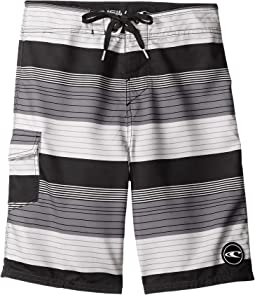 O'Neill Kids - Santa Cruz Stripe Boardshorts (Big Kids)