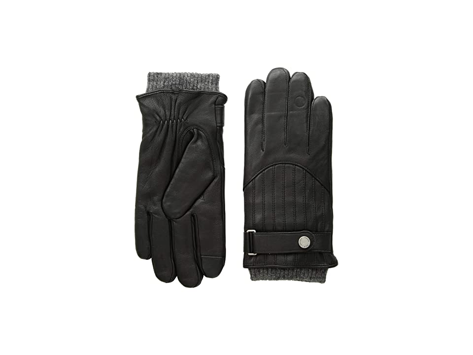 Polo Ralph Lauren Quilted Racing Gloves (Black) Over-Mits Gloves