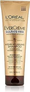 L'Oreal Paris EverCreme Sulfate-Free Moisture System Intense Nourishing Shampoo, 8.5 Fluid Ounce